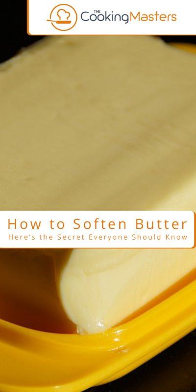 How to soften butter
