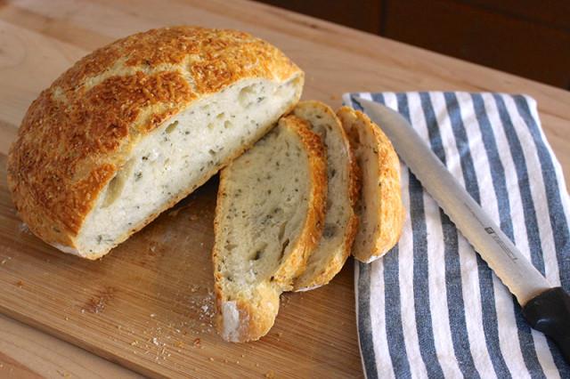 No Knead Rosemary Bread