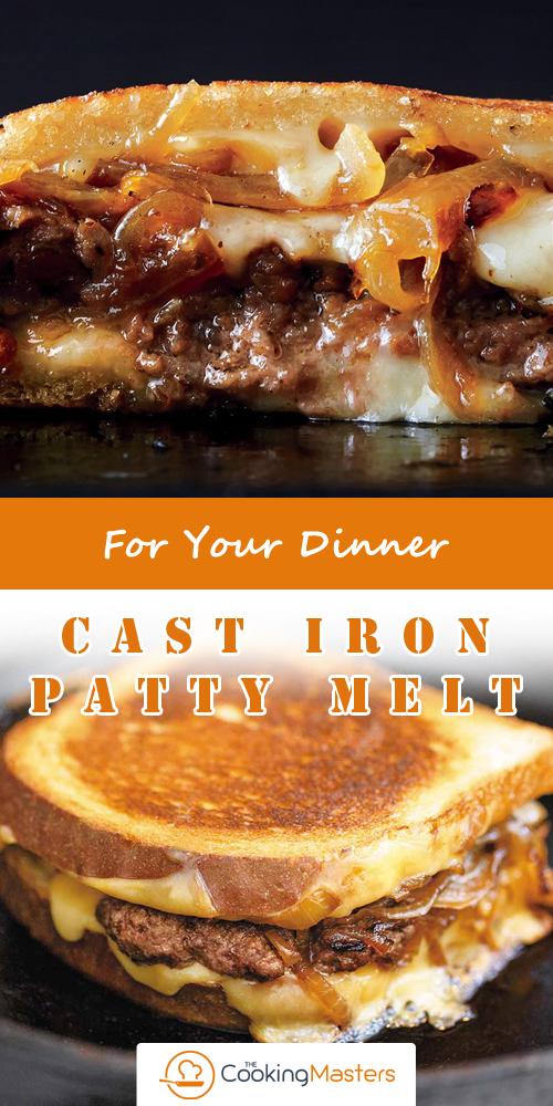 Cast iron patty melt